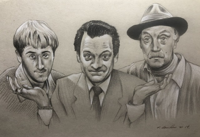 Lennard Pearce, Nicholas Lyndhurst, David Jason por TraceyLawler